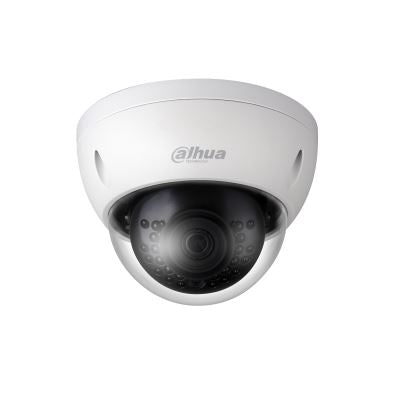 Picture of IPC-HDBW1431E: DAHUA 4MP IP Vandal Proof IR D/N Dome Camera. 20fps@4m (2688x1520) H.264 & H.265 dual-stream encoding, 2.8mm fixed lens, Max IR Length: 30m WDR, Day/Night (ICR), 3DNR, AWB. IP67, IK10, PoE.