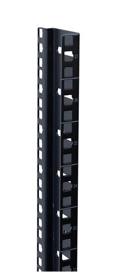 Picture of RASM42-6: DYNAMIX 42RU S-Shaped Zinc Coated Mounting Rails for SR Series Cabinets. Includes 2x right hand & 2x left hand pieces.