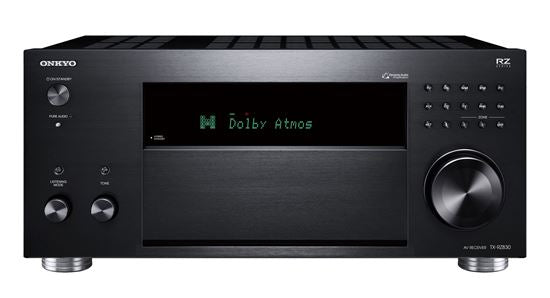 Picture of TXRZ830B: ONKYO 9.2 Channel Network A/V Receiver. HDR10, Dolby Vision. THX Certified select reference sound. Dolby Atmos or DTS:X home cinema. Chromecast  built-in, Airplay. Colour Black