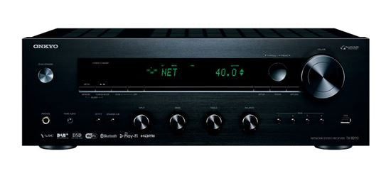 Picture of TX8270B: ONKYO Network Stereo Receiver. Chromecast built in. DTS Play-Fi. Dual-band WiFi, Airplay & Spotify. Inter radio & streaming services. FlareConnect. HDMI 4 in, 1 out. Colour Black