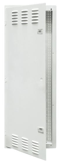 Picture of HWS-4204V2: DYNAMIX 42'' FTTH Network Enclosure Recessed Wall Mount with Vented Lid Cable & Dual GPO Knock outs. Installs: 400mm Centre Stud. Cut out OD: 355 x 1067 x 90mm. Incl. Installation Accessories, Earth Kit