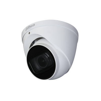 Picture of HAC-HDW2501T-Z-A: DAHUA 5MP Starlight HDCVI IR Eyeball Camera. 120dB true WDR. 2.7-13.5mm motorized lens.  Max. IR length 60m. IP67. Colour White.