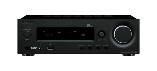 Picture of RN855B: ONKYO Stereo Network Receiver. Hi-Res audio via network or USB. Control music stored on connected HDD. VLSC reduces noise & reveals detail. Supports FlareConnect multi-room audio. Colour Black