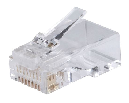 Picture of RJ-45-C6AUTP-20: DYNAMIX Cat6/6A UTP RJ45 plug for Solid and Stranded Cable (20 piece Bag)