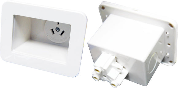 Picture of AV-RPS01: DYNAMIX Recessed Single Power Outlet