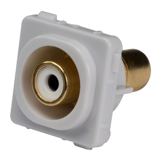 Picture of FP-RCA-WH: AMDEX White RCA to RCA Jack. Gold Plated