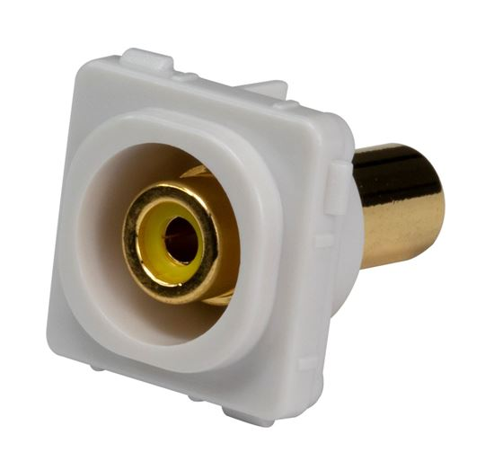 Picture of FP-RCA-YE: AMDEX Yellow RCA to RCA Jack. Gold Plated