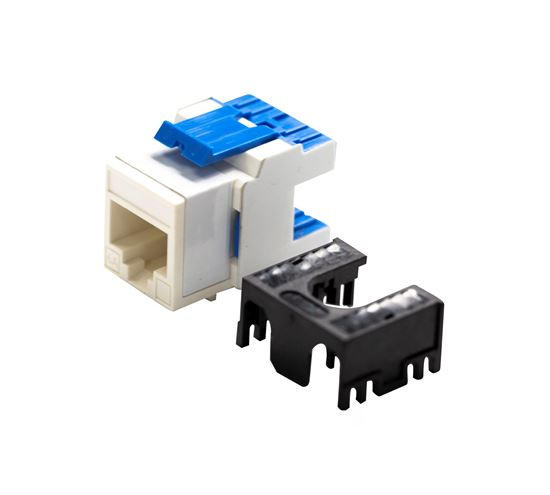 Picture of FP-C6A-180WH: DYNAMIX Cat6A 180 Unshielded Keystone Jack, Dual  IDC. Colour White