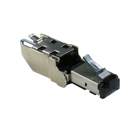 Picture of RJ-TL6ASTP: DYNAMIX RJ45 STP Cat6A 10G Tooless Flexible Plug. Works with both solid and stranded conductors 22~26AWG