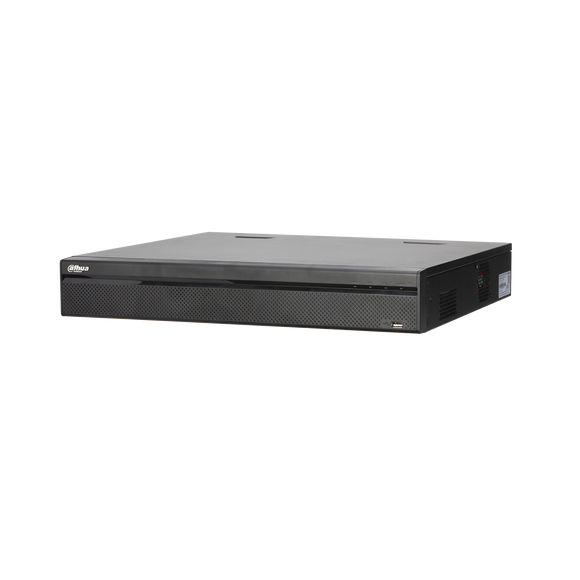 Picture of NVR5424-24P-4KS2: DAHUA 24 Channel 24port PoE Pro NVR, 4TB HDD. Max 320Mbps, Up to 12MP Res, H.265+, 4 HDD Bay, 2 HDMI/VGA output. Supports IVS Up to 8 TB capacity for each HDD. Includes 4TB HDD.