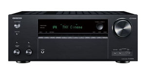 Picture of TXNR696B: ONKYO 7.2 Channel Network AV Receiver. HDMI 7 in, 2 out. Dolby Atmos & DTS:X reproduction. HDMI 4K@60Hz support. Theatre dimensional virtual surround function. Colour Black