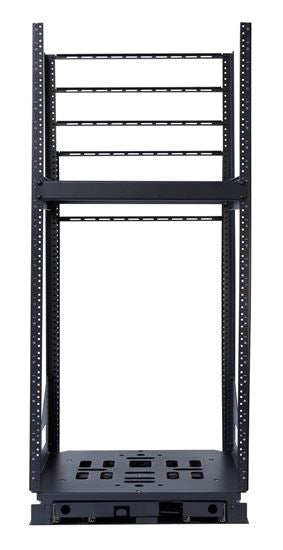 Picture of AVROT12-500: DYNAMIX 19'' 12U Rotary Rack. Rotation Angles of  45 & 90 Allow Easy Fitting of Equipment, Provides Easy Access for Maintenance & Servicing. 3mm steel adds Security & Stability. 503mm x 495.84mm x 12U