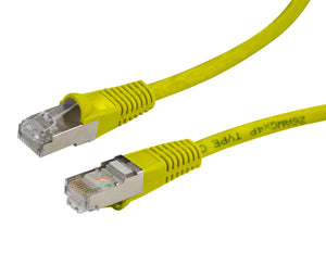 Picture of PLY-AUGS-0: DYNAMIX 0.5m Cat6A Yellow SFTP 10G Patch Lead. (Cat6 Augmented) 500MHz Slimline Moulding