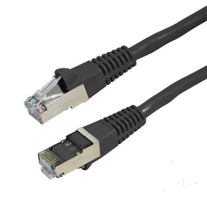 Picture of PLK-AUGS-1: DYNAMIX 1m Cat6A Black SFTP 10G Patch Lead. (Cat6 Augmented) 500MHz Slimline Moulding