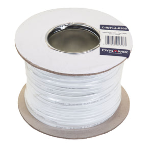 Picture of C-RJ11-4-R103: DYNAMIX 100m Roll 4-Wire Flat Cable, White colour