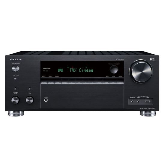 Picture of TXRZ730B: ONKYO 9.2 Channel Network A/V Receiver. THX Certified select reference sound. Dolby Atmos or DTS:X home cinema. Chromecast built in. WiFi, Airplay & Spotify. Colour Black