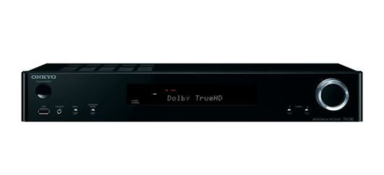 Picture of TXL50B: ONKYO 5.1 Channel Slim AV Receiver. HDMI 4 in, 1 out. ChromeCast built-in. Ultra HD TV support. Spotify, TIDAL, Deezer support. FlareConnect multi-room audio. Colour Black
