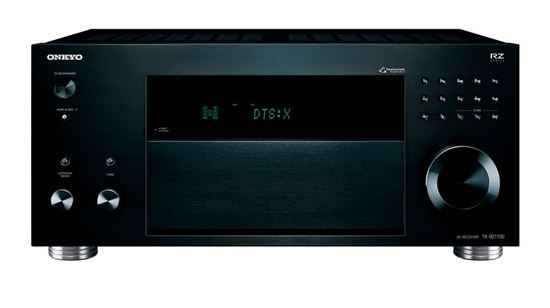 Picture of TXRZ1100B: ONKYO 9.2 Channel 3 Zone AV Receiver. DTS:X & Dolby Atmos. Up mixes standard surround formats. THX Certified cinema reference sound. Latest dual-zone HDMI. Housewide playback. Colour Black