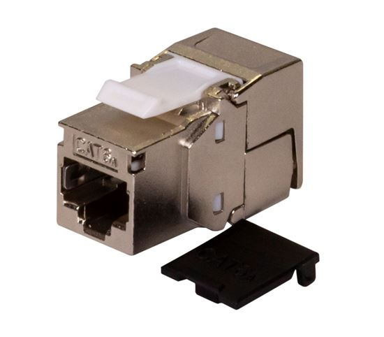Picture of FP-C6AUGS-06: DYNAMIX Cat6A Class EA 10G Shielded Keystone Slimline Jack. Component Compliant.