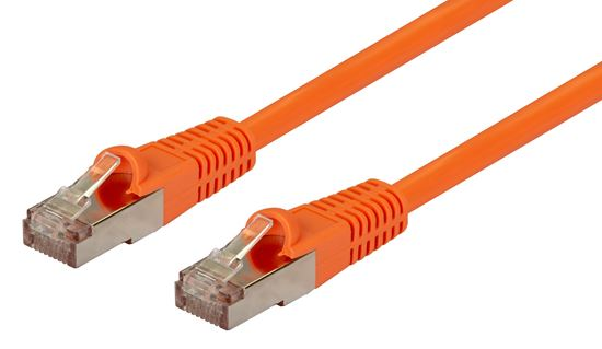 Picture of PLO-AUGS-0: DYNAMIX 0.5m Cat6A Orange SFTP 10G Patch Lead. (Cat6 Augmented) 500MHz Slimline Moulding.