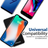 Picture of AURAVOLT-10.PLUS: PROMATE 10000mAh Wireless Charging Qi Power Bank, 2 Ways USB-C Port, Compatible with all Qi Enabled Devices. Dual USB-A Ports, 5W Wireless output,   Colour:Black