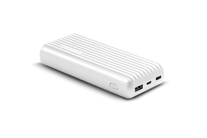 Picture of TITAN-20C.WHT: PROMATE 20000mAh USB-C High Capacity Portable Power Bank. Lithium Polymer Battery. Ultra Fast Dual USB Charging.  Automatic Voltage Regulation.  Colour:White
