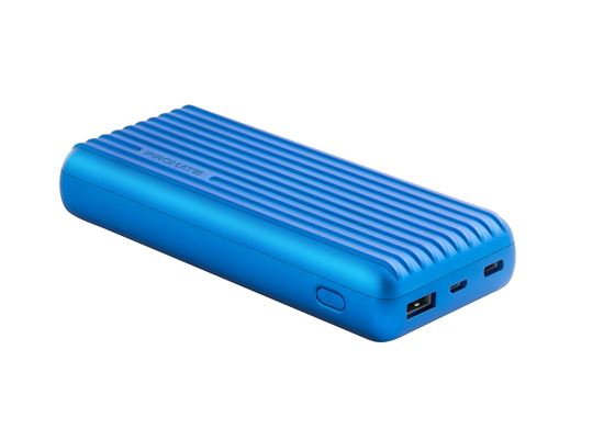Picture of TITAN-20C.BL: PROMATE 20000mAh USB-C High Capacity Portable Power Bank. Lithium Polymer Battery. Ultra Fast Dual USB Charging.  Automatic Voltage Regulation.  Colour:Blue