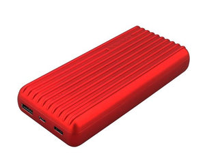 Picture of TITAN-20C.RED: PROMATE 20000mAh USB-C High Capacity Portable Power Bank. Lithium Polymer Battery. Ultra Fast Dual USB Charging.  Automatic Voltage Regulation.  Colour:Red