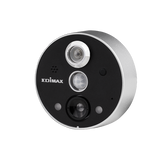 Picture of IC-6220DC: EDIMAX Smart WiFi Peephole Network Camera. Remote door monitoring. 2-Way audio. PIR sensor for motion detection. Night vision up to 3m. Easy DIY install.