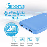 Picture of VOLTAG-10.BL: PROMATE 10000mAh Ultra-Slim Lithium Polymer Power Bank with Dual USB Ports. Compatible with all Smart Phones & Tablets Automatic Voltage Regulation. Colour:Blue