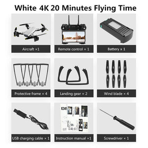Upgraded Foldable RC 4K WIFI FPV Dual Camera Drone