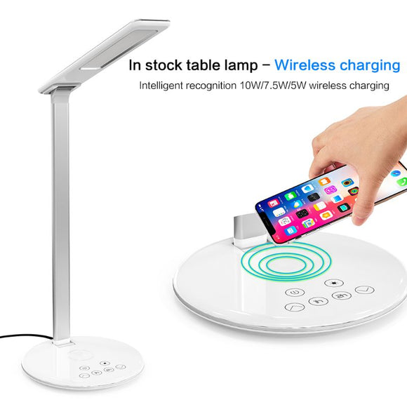 Multifunctional LED Lamp Wireless Charging Pad for iPhone Samsung Xiaomi