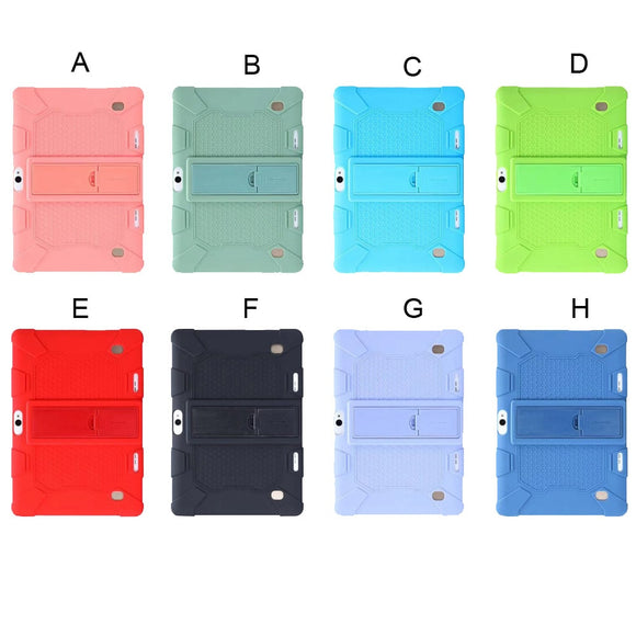 Universal Soft Silicone Case For 10 10.1 Inch Android Tablet PC Tablet PC Shockproof Solid Color Back Cover Protective Shell#G