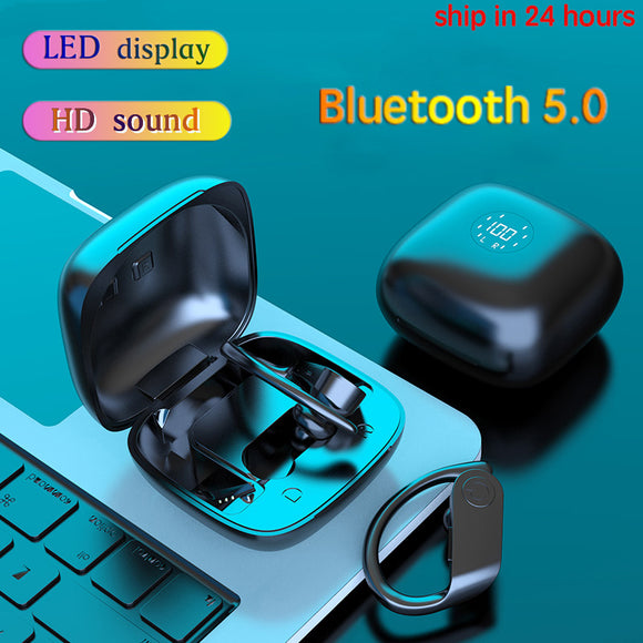 New Arrival Waterproof Wireless Bluetooth LED Earbuds