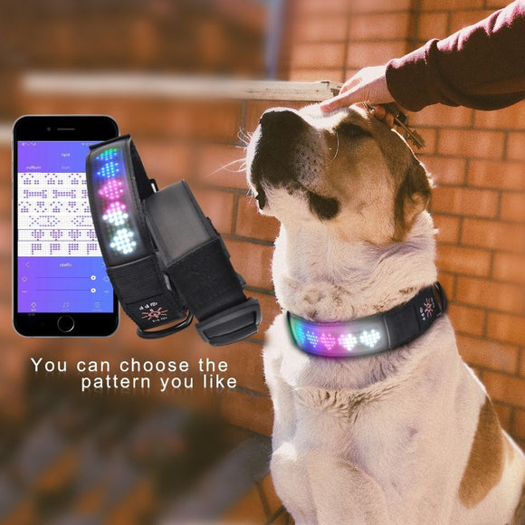 Smart Tech Dog Collar with Bluetooth Led Screen