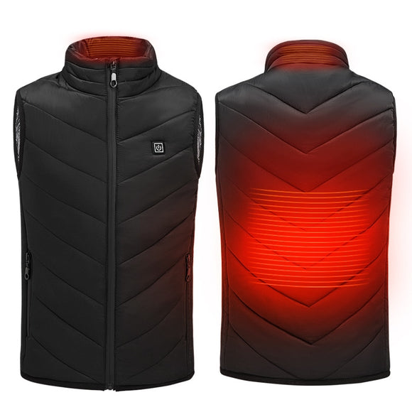 New Electric Heated Men's Outdoor Vest