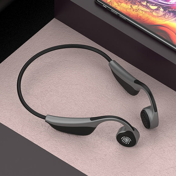New V9 Wireless Bluetooth 5.0 Bone Conduction Headset W/Microphone