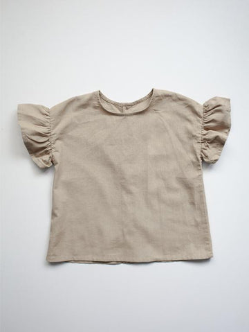 The Frill Linen Top