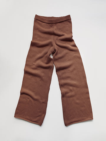 The Wide Leg Knit Trouser - Women's