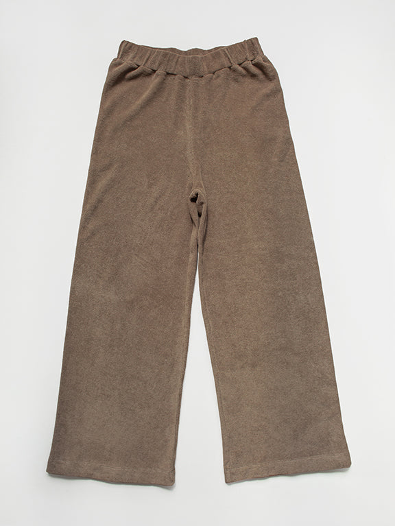 The Wide Leg Terry Trouser - Women's
