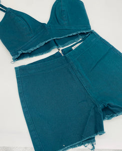 TINY stretchy Denim set