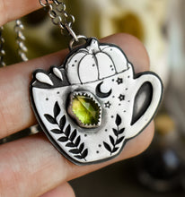 Load image into Gallery viewer, Tea cup, Peridot, Sterling Silver.
