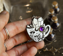 Load image into Gallery viewer, Tea cup, Amethyst, Sterling Silver.