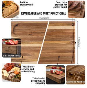 Acacia Wood Chopping Board Set by Lillywhite & Brown