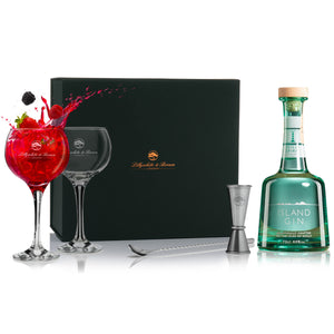 Gin Glass Gift Set with Island Gin, 70cl