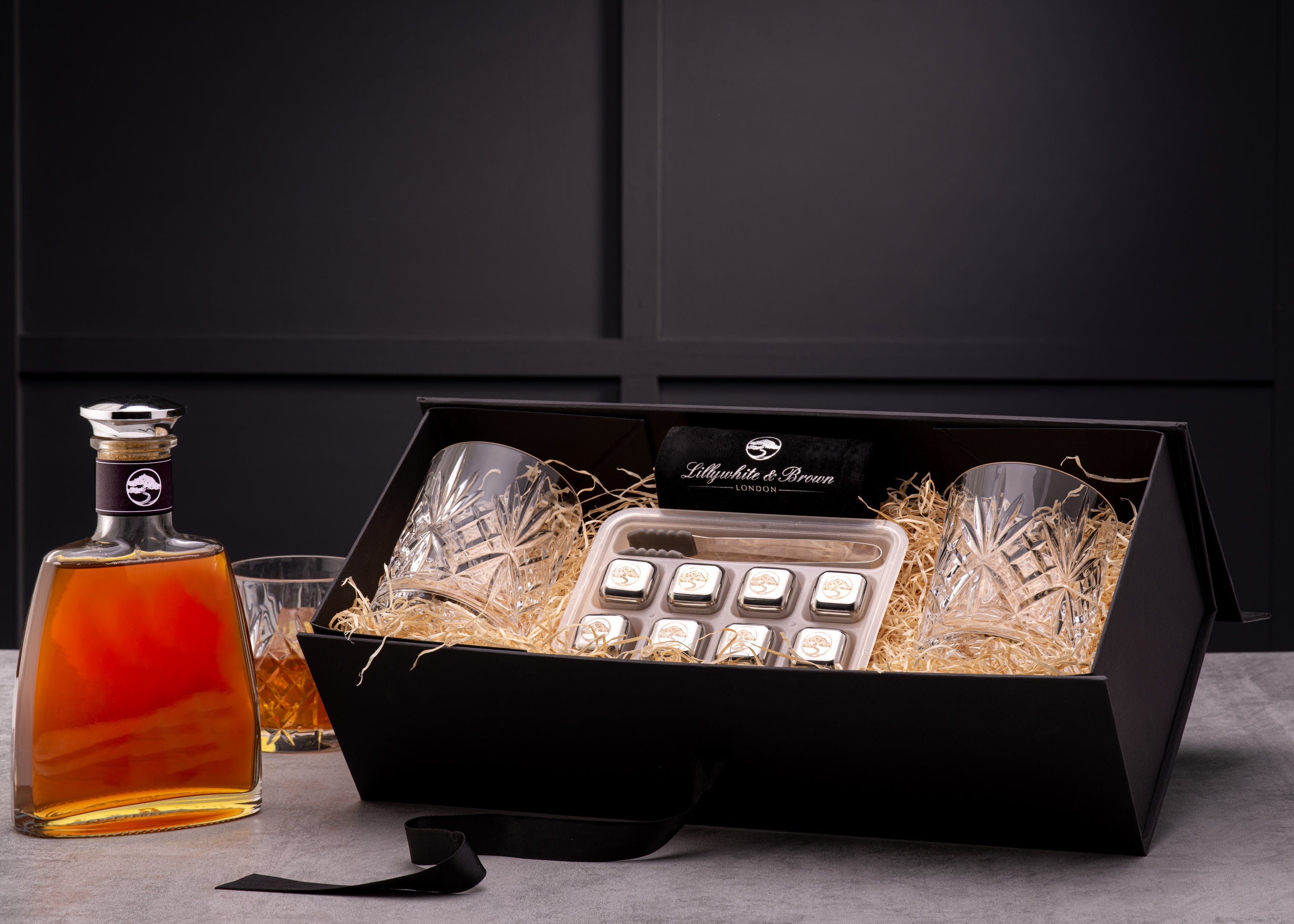 Whisky Glass Gift Set with Whisky Stones
