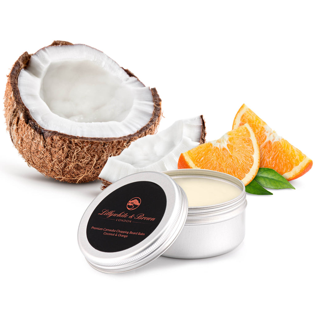 Premium Chopping Board Balm - Carnauba Wax, Coconut & Orange