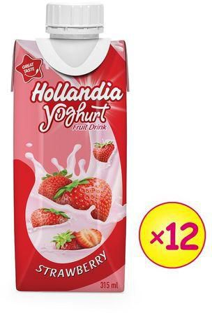 Hollandia Strawberry yoghurt 315ml x 12