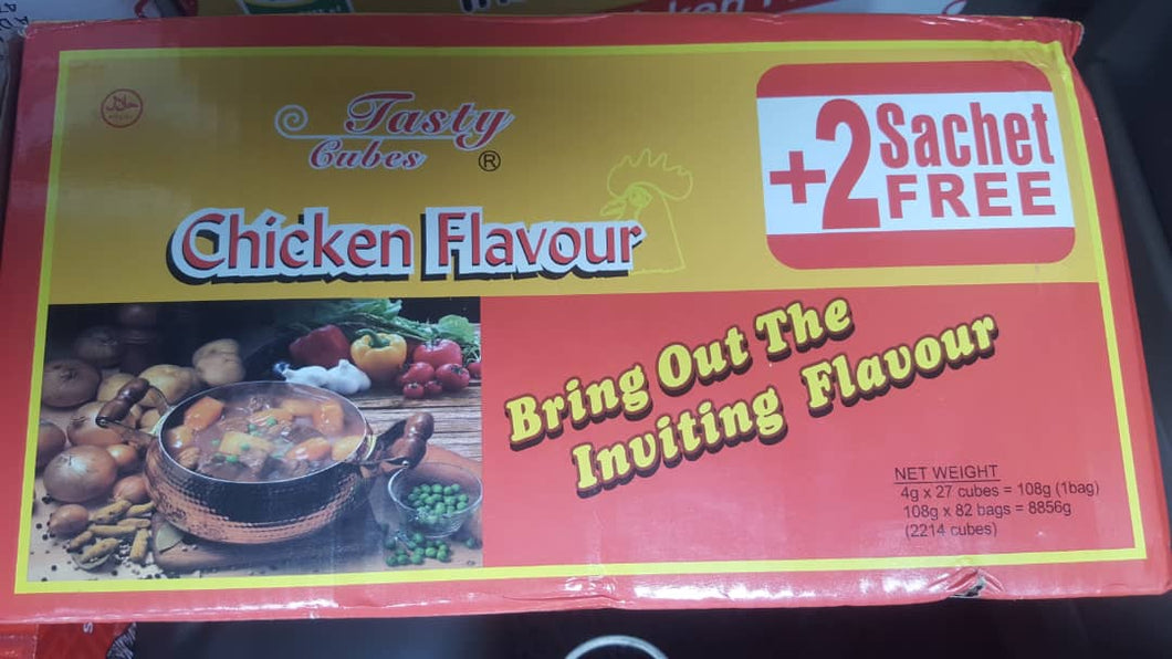 Chicken Flavor Tasty Cubes 4g x 27 cubes 1 carton