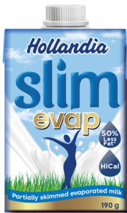 Hollandia Slim Evaporated Milk 190g x 24